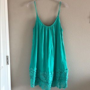 Dresses & Skirts - NWOT mint crochet hem dress